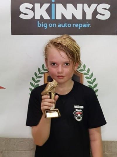 Fin Foxcroft West End Warriors Golden Boot Award